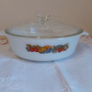 Vintage Fire king Casserole Dish